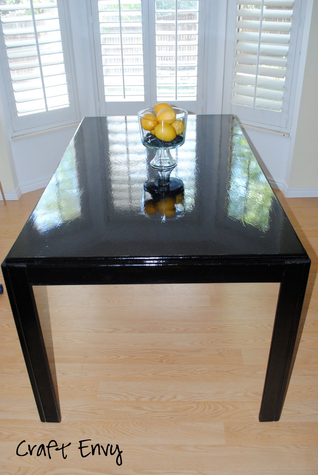 craft envy how to stain a wood table. Black Bedroom Furniture Sets. Home Design Ideas
