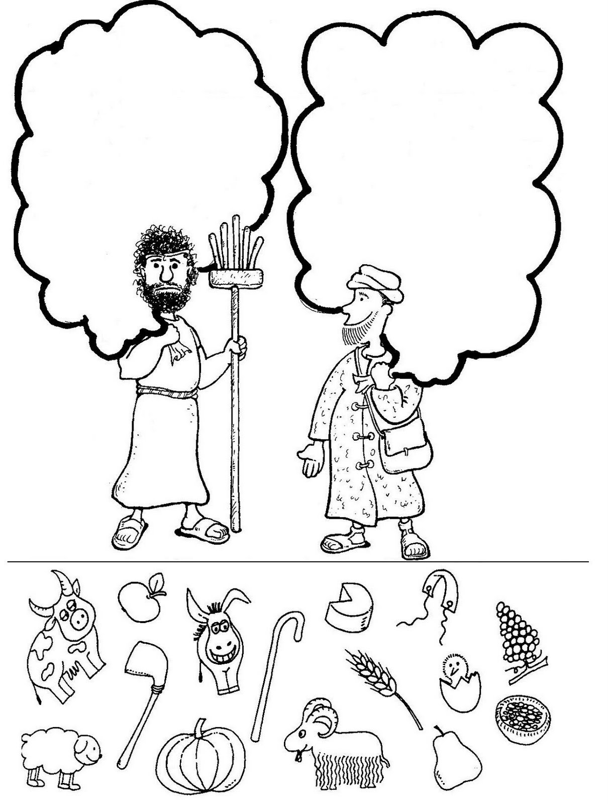 cain and abel coloring pages - Bible Coloring Pages Cain Abel