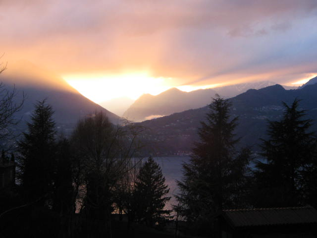 .....THE SUNSET FROM THE VILLA....