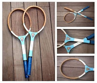 raquetas antiguas madera