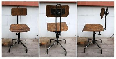 silla giratoria industrial antiguedades