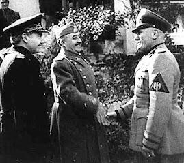 Francisco Franco el Caudillo e Mussolini al loro primo incontro