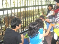 Ibu, tamasyaku di pagar Istana Bogor
