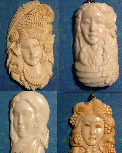 The enchanted gallery ebay sale hand carved bone