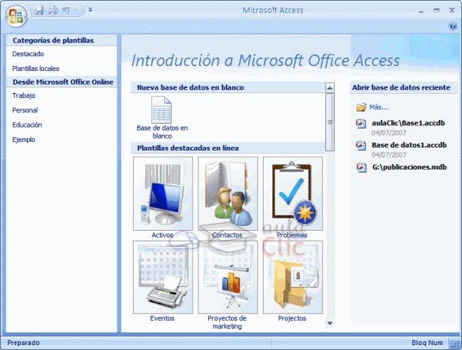 Atractivo Plantillas De Microsoft Access 2007 Ornamento - Colección ...