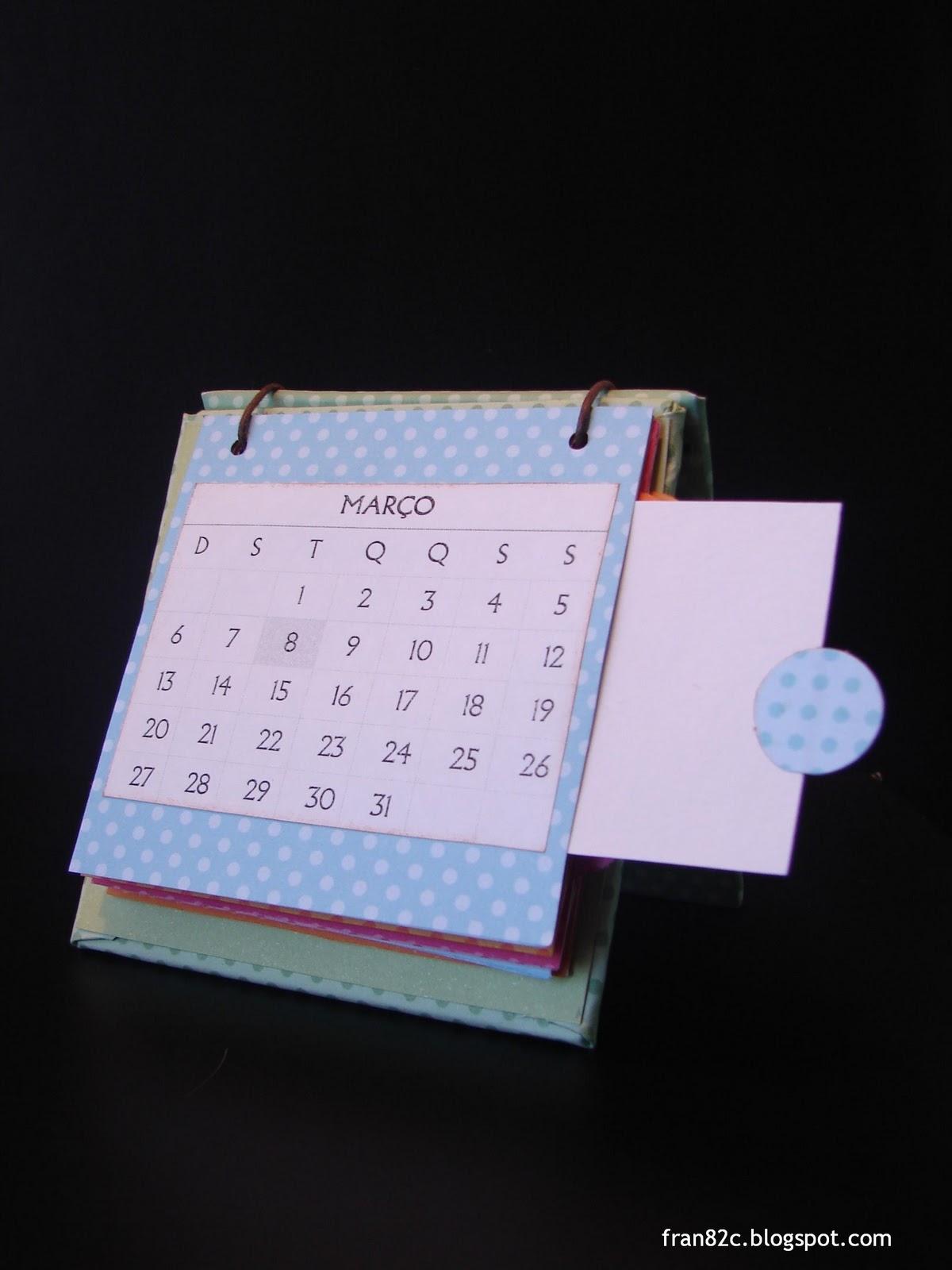 Inspira es by fran calend rio de mesa utilizando disquetes - Calendario de mesa ...