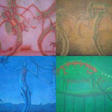 Unas obras del artista