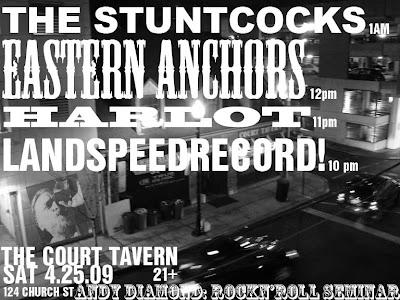 Rock n Roll Court Tavern Seminar Sat 4-25-09