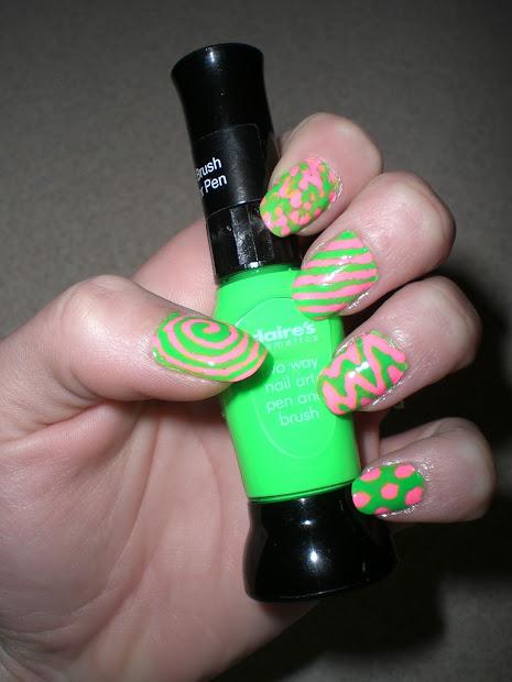 ashley nicole nail design funky