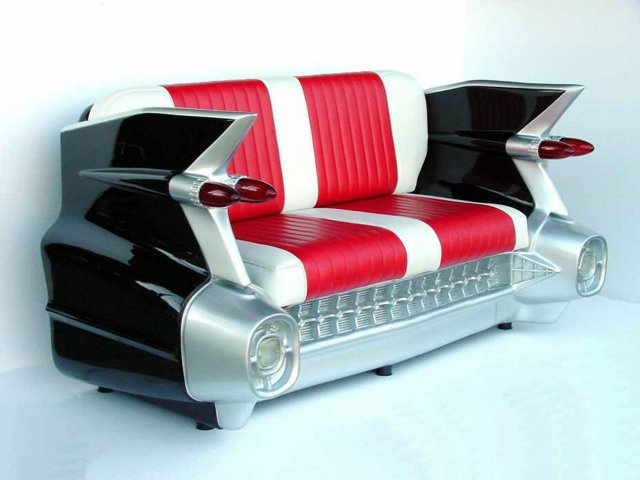 Cool automobile shaped furniture Custom furniture made car parts