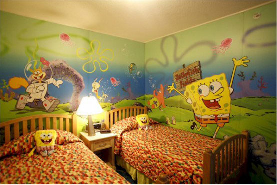 Cool SpongeBob Kids Bedroom Furniture Idea