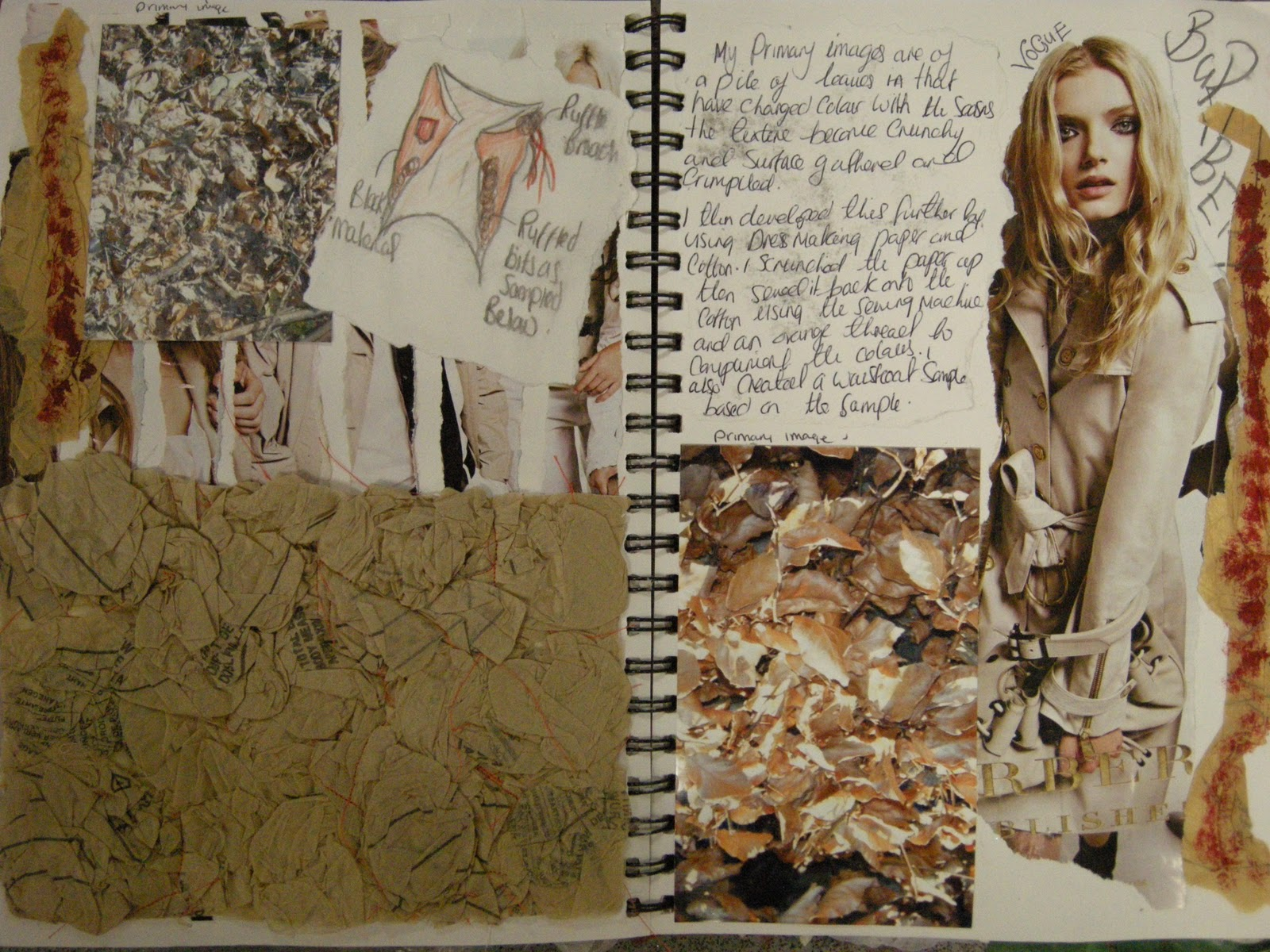 Sketchbook Pages Surfaces Lady Lacey Bluebell