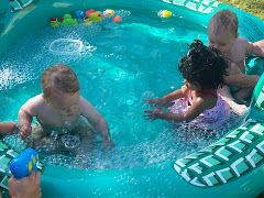 All the babies enjoying the pool
