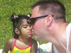 Pryanka giving Daddy a kiss