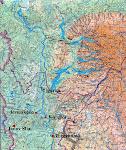 Mapa severního Jeniseje, okolí Igarky