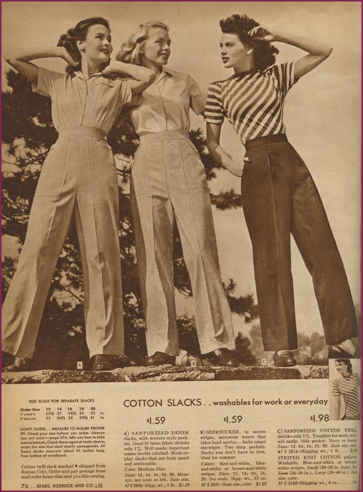 Learning how to be fashionable in the Forties… Features Our Articles Post-War Random History Women in History