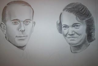 Pas à Pas Double portrait, étape 3