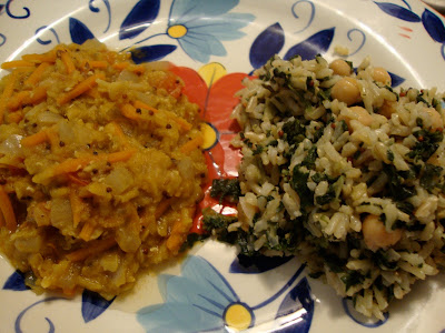 Indian Dhal and Coconut Spinach Rice