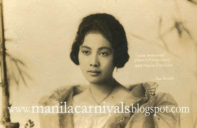 MANILA CARNIVALS 1908-1939: 117. Carnival Beauties: ROSARIO ...