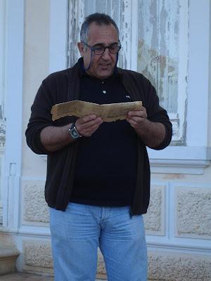 O advogado e poeta Fernando Cabrita abordando a vida e a obra do advogado e poeta João Lúcio