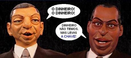 Furão Barroso e António Posta (bonecos Contra-Informação)