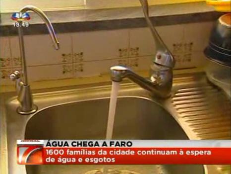 Água canalizada e saneamento chegam a 800 famílias de Faro - Reportagem SIC (clique para ver)