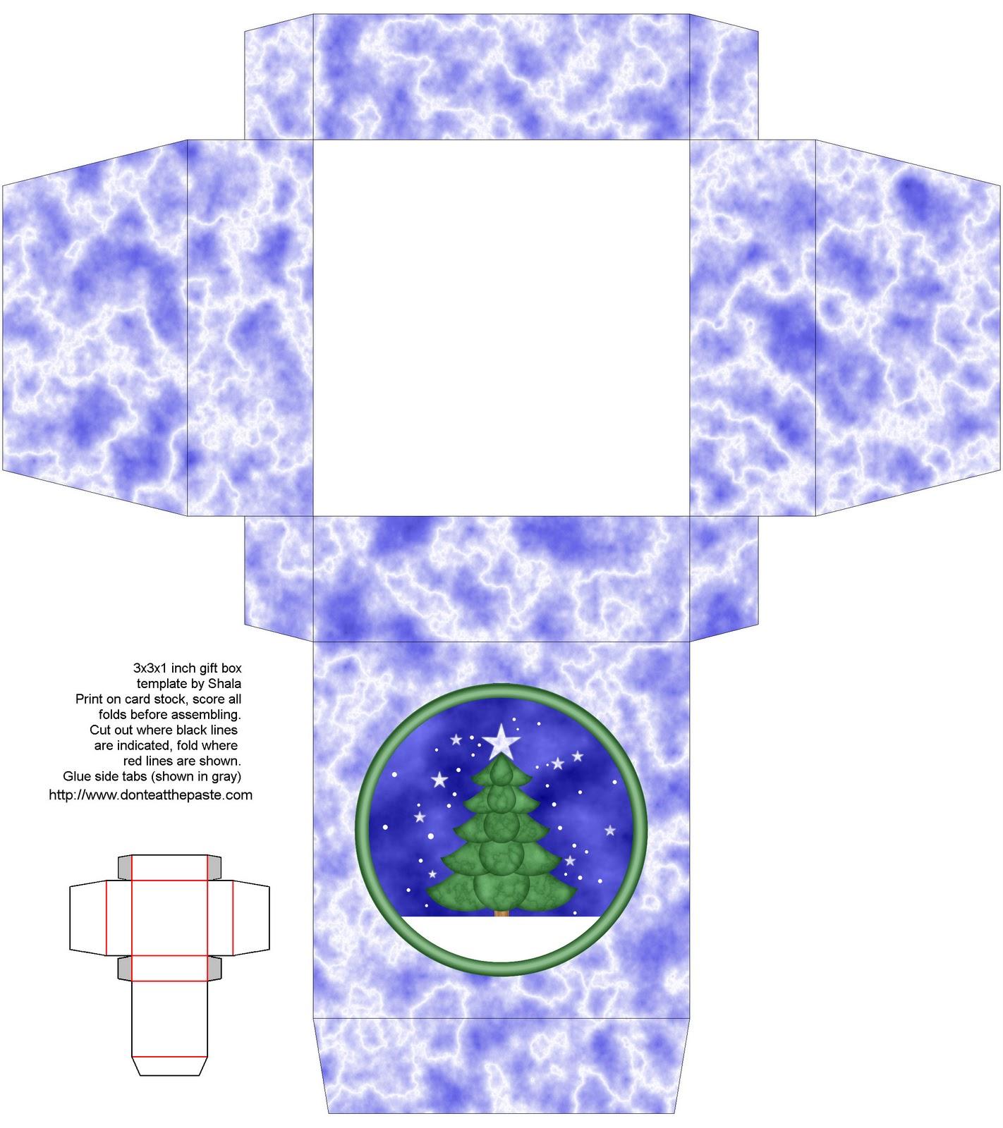 Christmas Tree Box And Coloring Page