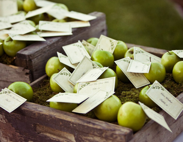 green Apple themed wedding
