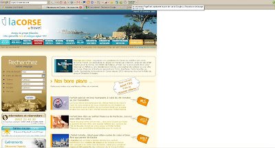 la corse travel page rank google