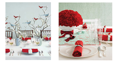 Red And White Wedding Decor