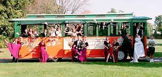 wed+trolley Wedding Party Transportation Ideas