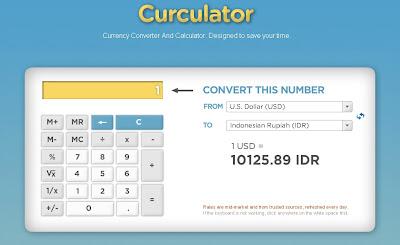 Contoh nilai tukar dari Dollar ke Rupiah (1 usd = Rp. 10.125.89,- per