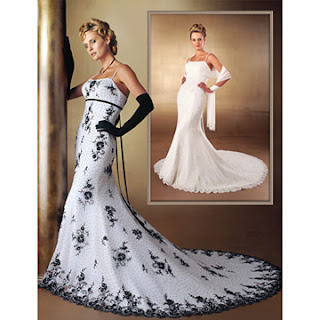 Black White and Silver Wedding Gowns