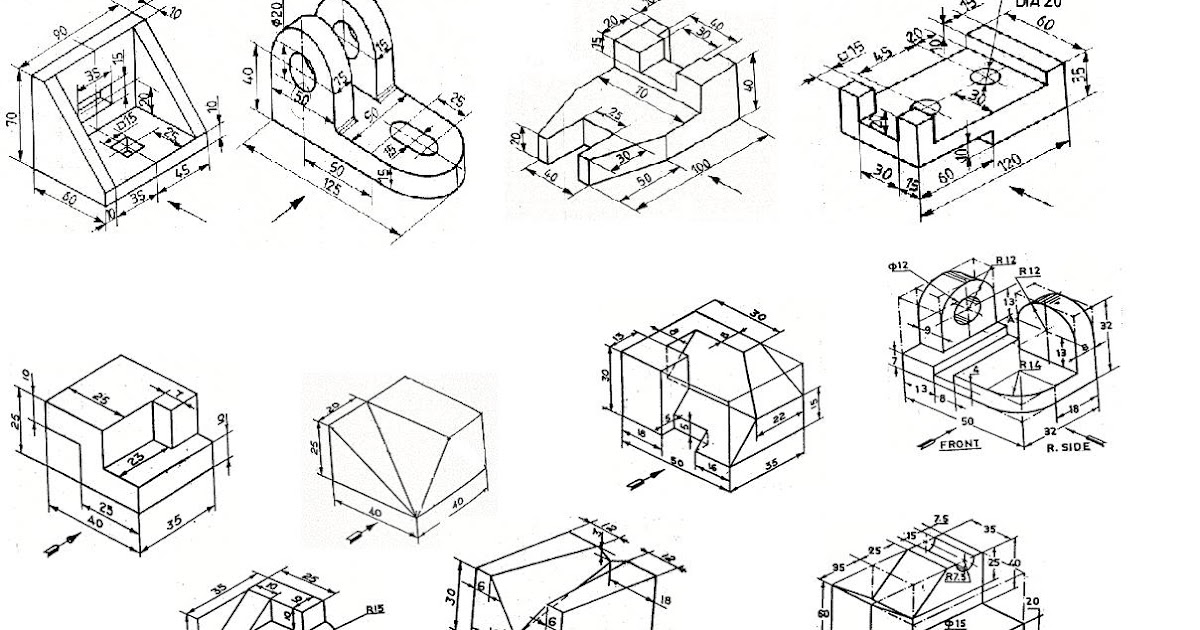 how to draw isometric views from orthographic