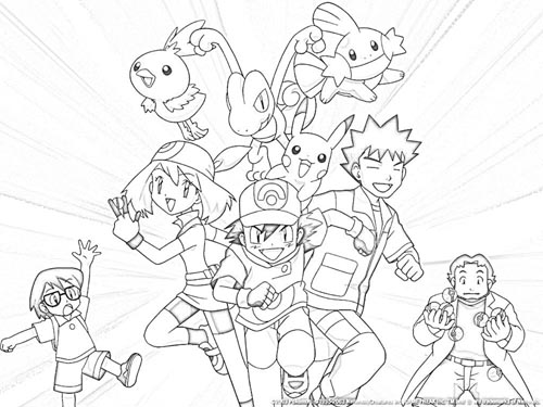 pokemon trainer coloring pages - photo#34