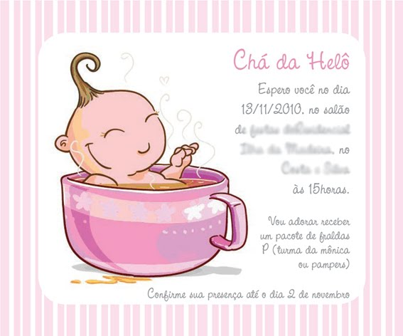 Convite Ch   De Beb