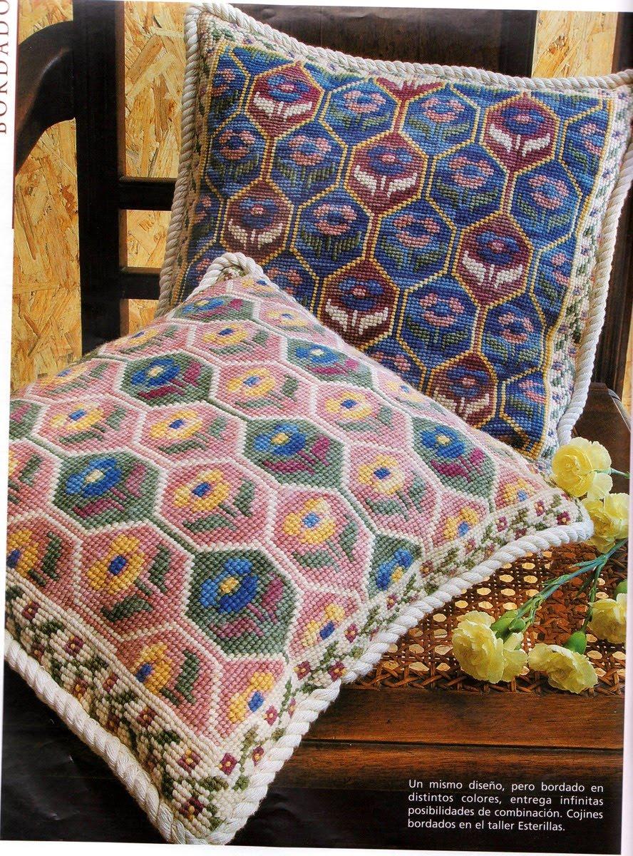 Bordar tejer y algo mas alfombras y cojines - Hacer cojines de punto ...