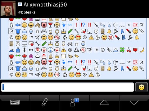 Hidden Emoticons and Symbols Arise For BlackBerry Messenger