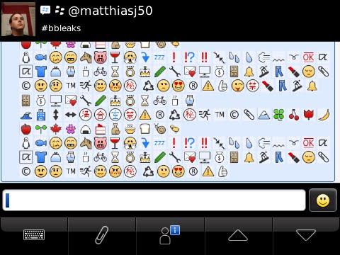 Hidden Emoticons And Symbols Arise For Blackberry Messenger N4bb