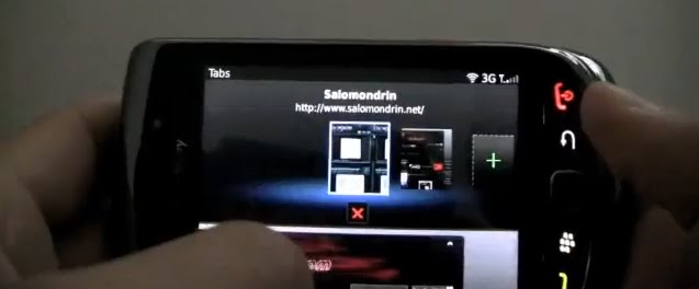 BlackBerry Webkit Browser Comparison Video