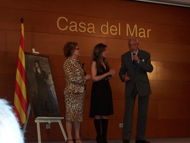 Prsentación en Barcelona del monográfico de María Dolores , entre Montse Calvo y Jordi LLovet
