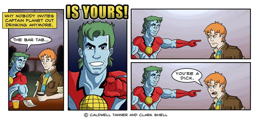 party fails - captain planet