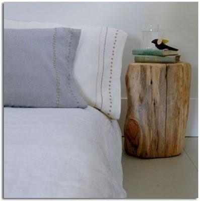 muebles baratos con troncos