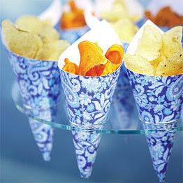 idea para servir patatas fritas