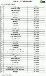Price List Souvenir Kayu