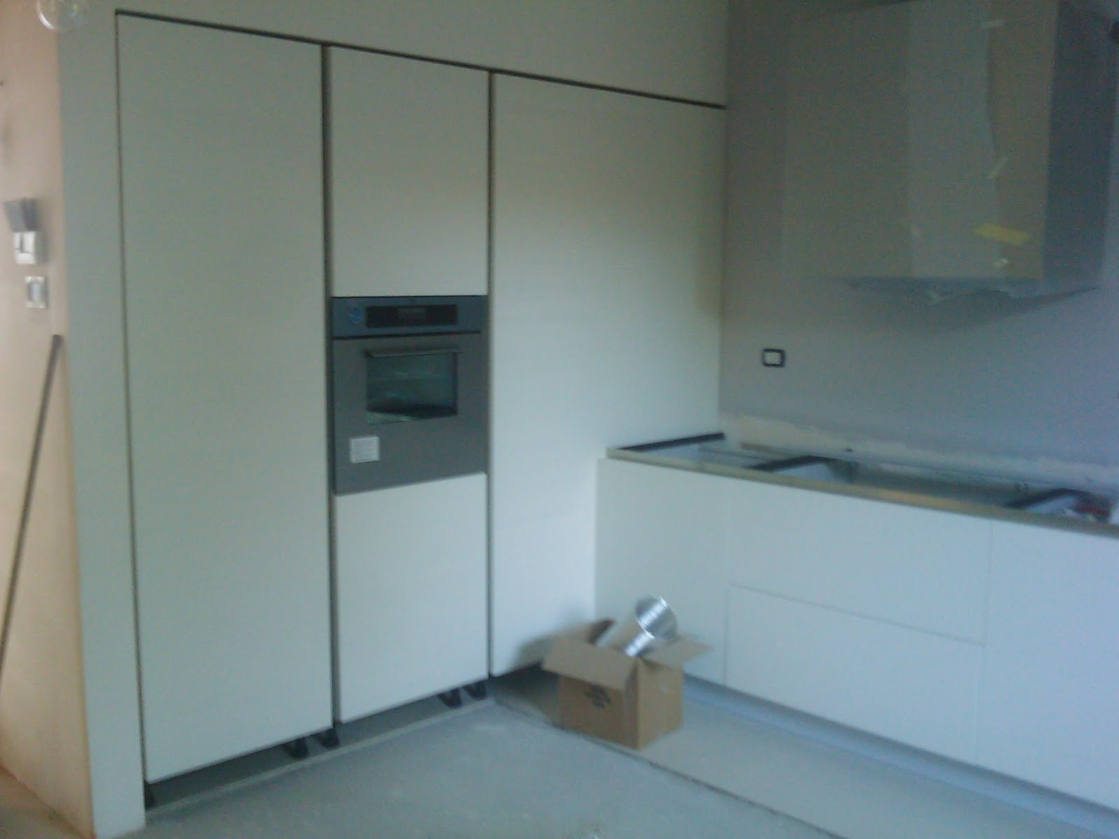 Geometra: progetto di interno cucina e elemento in cartongesso con