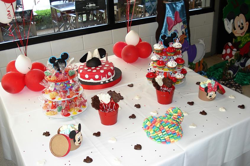 Top Planners: Mesa dulce tematica Minnie Mouse