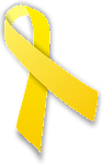 The yellow ribbon represents an adoptive parents love