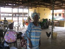 One of the elderly volunteers at the mother and baby clinic in Akinyele, Ipaja...