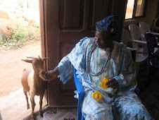 The local Baale with a local goat!